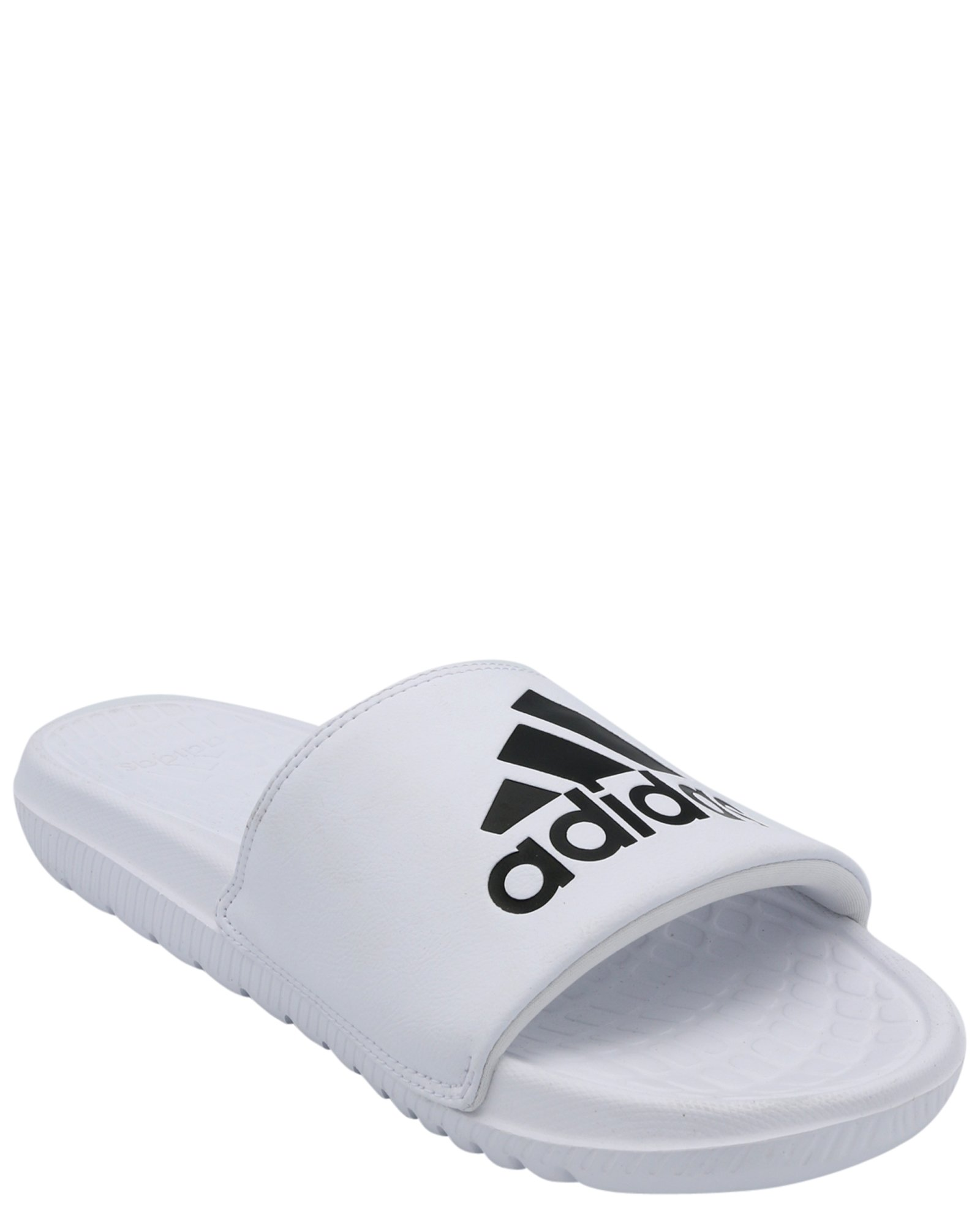 adidas Men's Voloomix Slide Sandal, White/Black/White, 10 M US