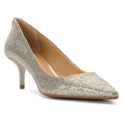 852148ef70a MICHAEL Michael Kors MK Flex Kitten Pointed-Toe Pumps - Silver Glitter