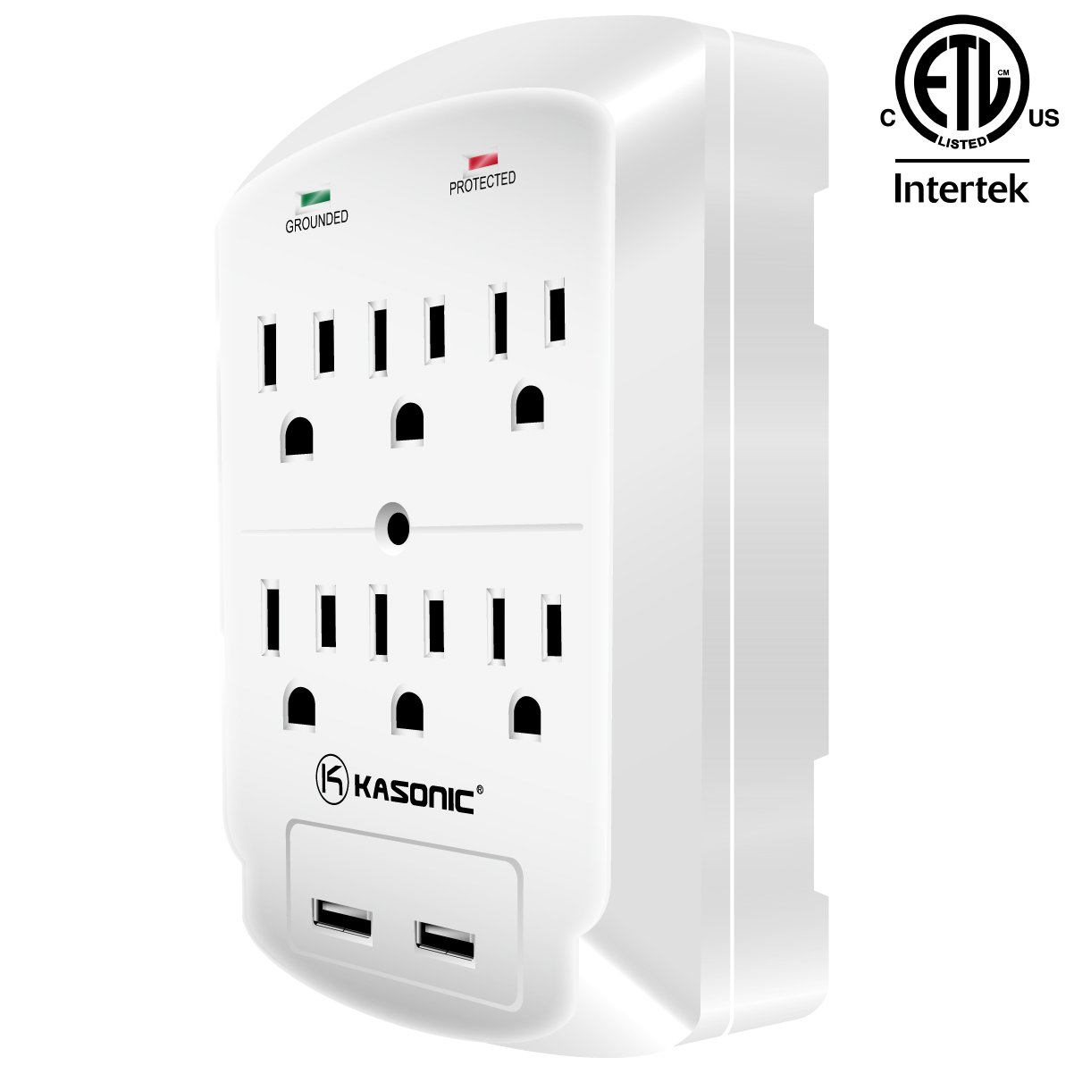 Wall Mount Power Outlet Kasonic 6 Ac Socket Surge Multiple Outlets Moreover How To Wire A Wiring Diagram As Well Protector With 21amp Dual Usb Charging Station Grounding And Protection Indicator For Home