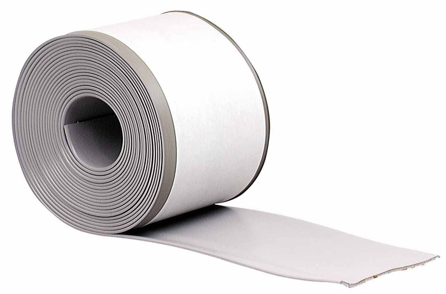 M-D Building Products 93245 4-Inch by 20-Feet Adhesive Back Vinyl Wall Base, Silver Gray