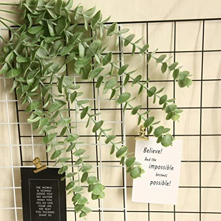 pittospwer 2 Piezas Plantas Artificiales Hojas eucalipto Falsas decoración Banquete Boda del jardín del hogar: Amazon.es: Hogar
