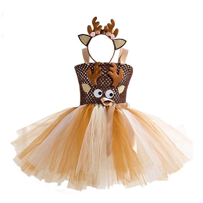 0-5T Kids Baby Girls Christmas Party Princess Mesh Tutu Dress Ballet Tulle Mini Skirt+Hair Hoop Set Birthday Dress up