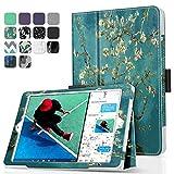 TNP iPad 9.7 Inch 2017 Case / iPad Air 1 Case - Corner Protection Premium PU Leather Folio Smart Cover w/ Auto Sleep / Wake for iPad 9.7 In 2017 Release, iPad Air 1 (Almond Blossom - Van Gogh)