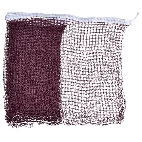 uxcell Nylon Braided Mesh Badminton Shuttlecock Net 6M Long White Trim Burgundy