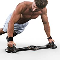 UUKEE Push Up Bar Upgraded Push Up Board for Strength Training 10-in-1 Pushup Stand Elite System with 360° Adjustable…