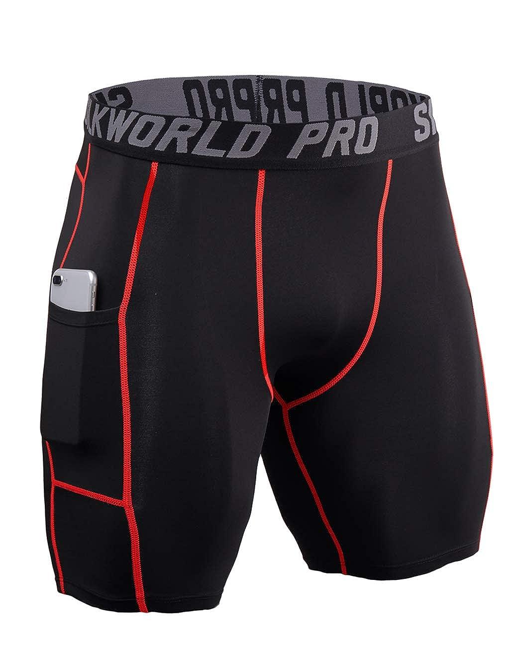 SILKWORLD UNDERWEAR メンズ Large / Waist: 33.5\ 0788-pockets: Black(red Stripe) B07QRQXH1H