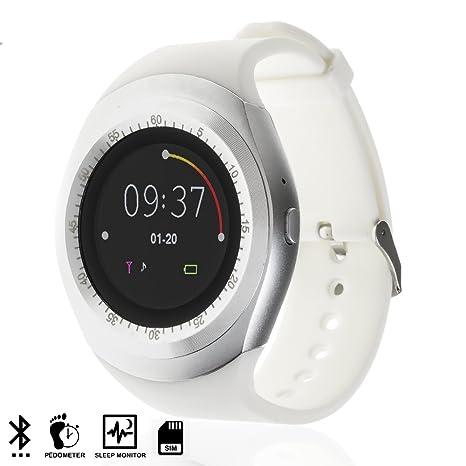 DAM TEKKIWEAR. SMARTWATCH Bluetooth con Pantalla Circular, SIM Y Micro SD.4,
