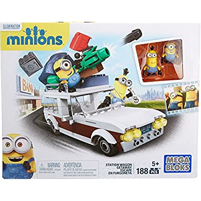 Mega Bloks Minions Station Wagon Getaway: Toys & Games