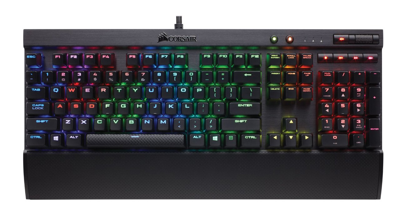 CORSAIR K70 LUX RGB Mechanical Gaming Keyboard - USB Passthrough & Media Controls - Tactile & Quiet - Cherry MX Brown - RGB LED Backlit by Corsair