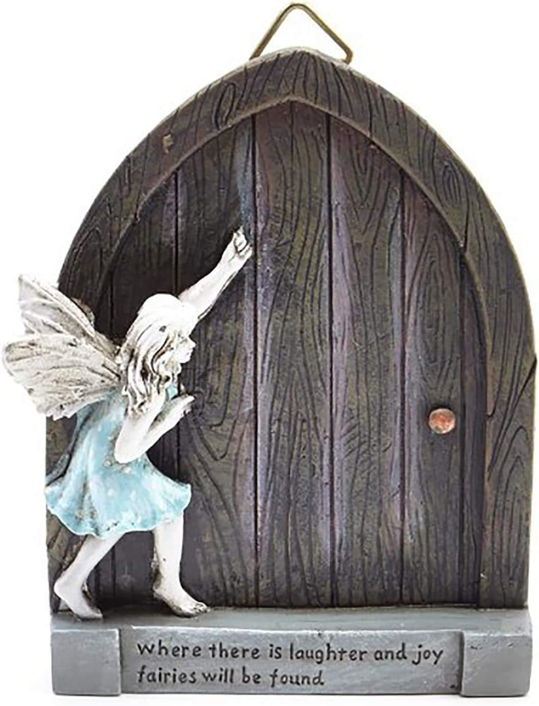 Sugar House Miniature Fairy Garden Accessories – Garden Décor Accessories Home for Fairies (Laughter & Joy Fairy Door)