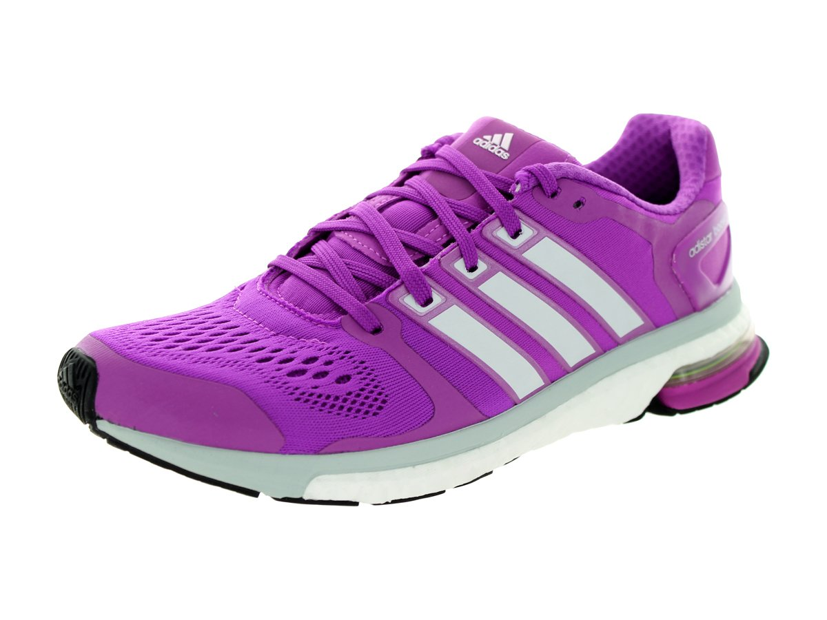 adidas Adistar Boost ESM Women Round Toe Synthetic Gray Running Shoe B00TRD1CSK 8 B(M) US|Flash Pink/Zero Metal/Clear Grey