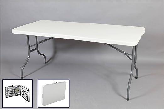Valise Table Pliante En Résine 150 Cm Amazon Fr Cuisine