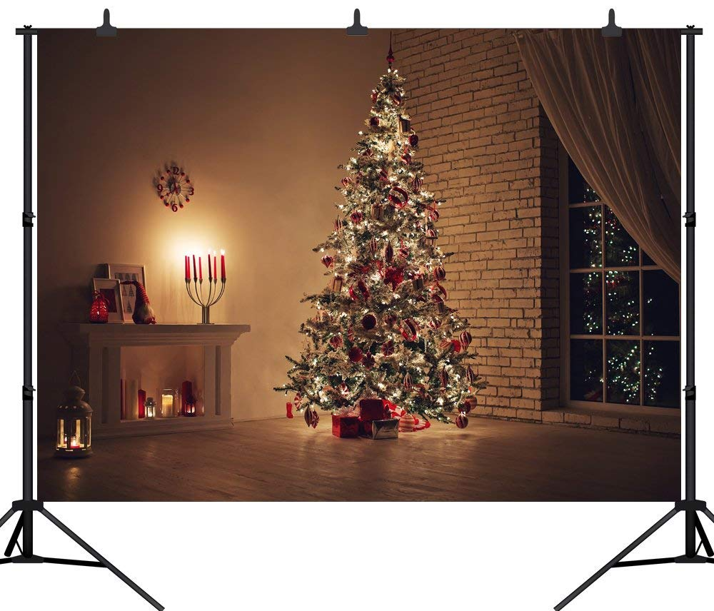 SZZWY 9X6FT(270X180CM) メリークリスマスパーティーテーマ カスタマイズシームレスビニール写真背景写真スタジオ小道具 PGT175B 10X8FT(300X240CM)  B07L5QHM5J
