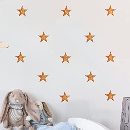 54 pcs Removable Vinyl Sparkling Star Wall Decals DIY Glitter Stars Wall Stickers Murals Star Sticker  sc 1 st  Amazon.com & Amazon.com: 54 pcs Removable Vinyl Sparkling Star Wall Decals DIY ...