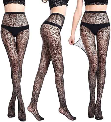 f856c3bb9 Women Sexy Lase Fishnet Tights 17 Kinds of Jacquard Pantyhose Yarns Net  Stockings Lingerie Lace Thigh