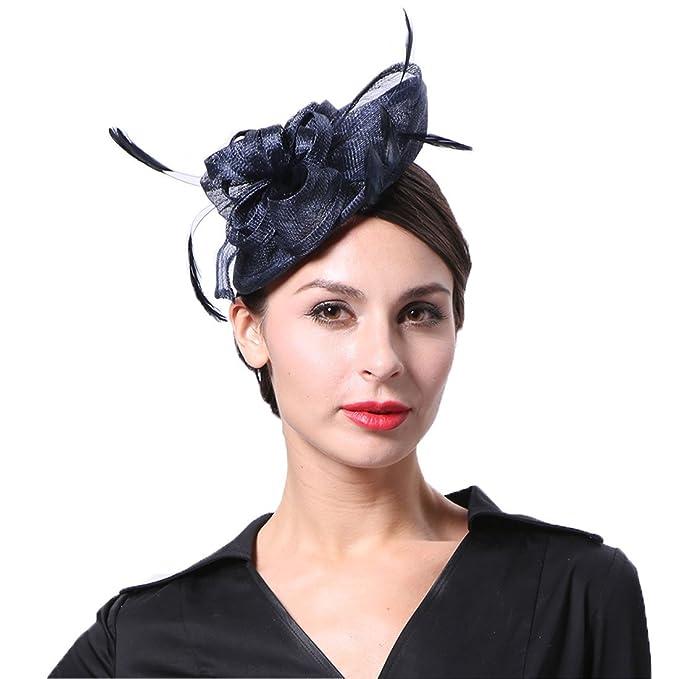June  s Young Mujer – Tocado Mujer Sombrero pelo joyas para Boda Joyas de  boda b9d320d938c
