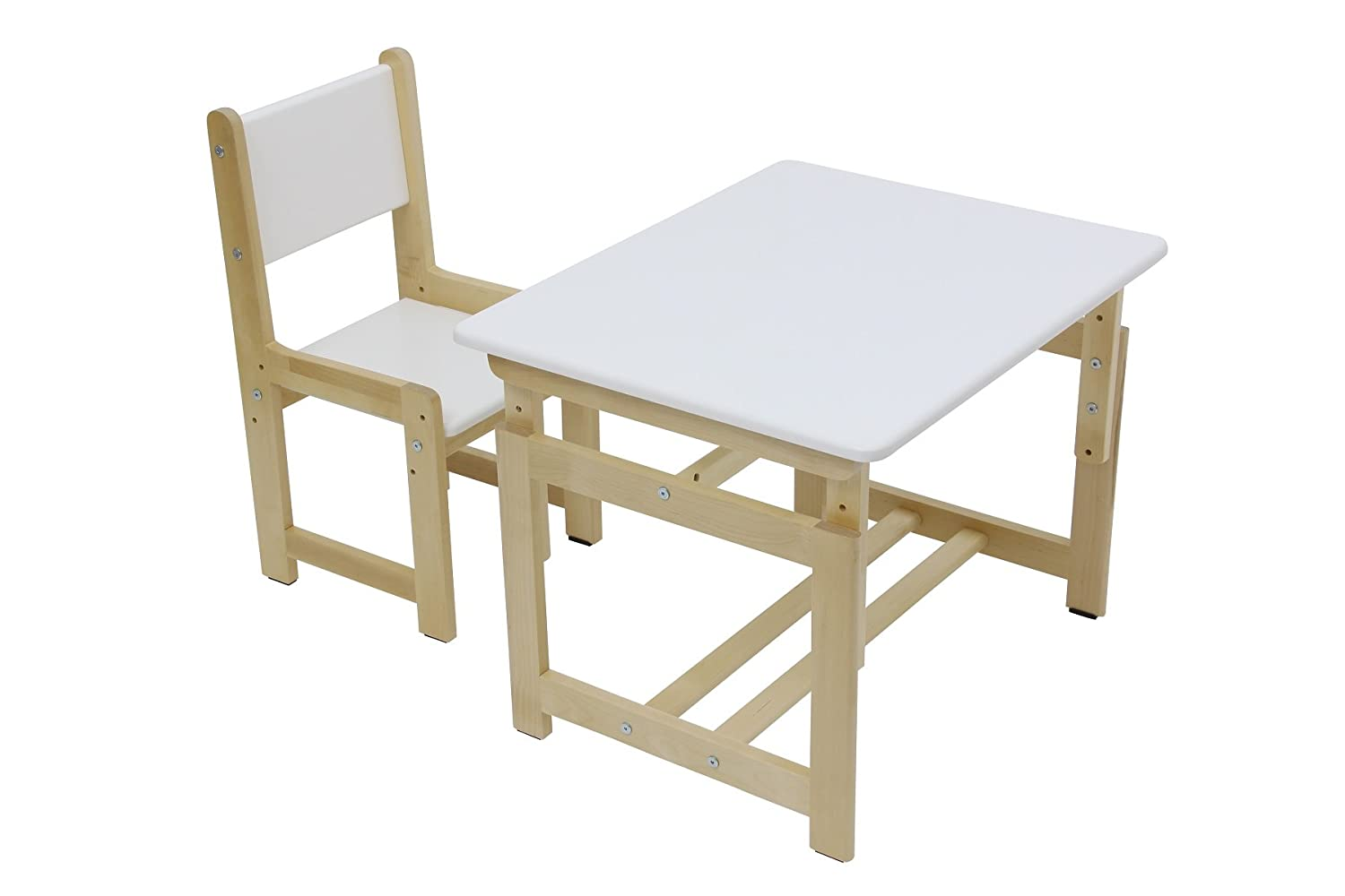 Children's Table and Chair Set, Polini Kids Eco 400 SM Wood Model, 3051 Polini-Kids