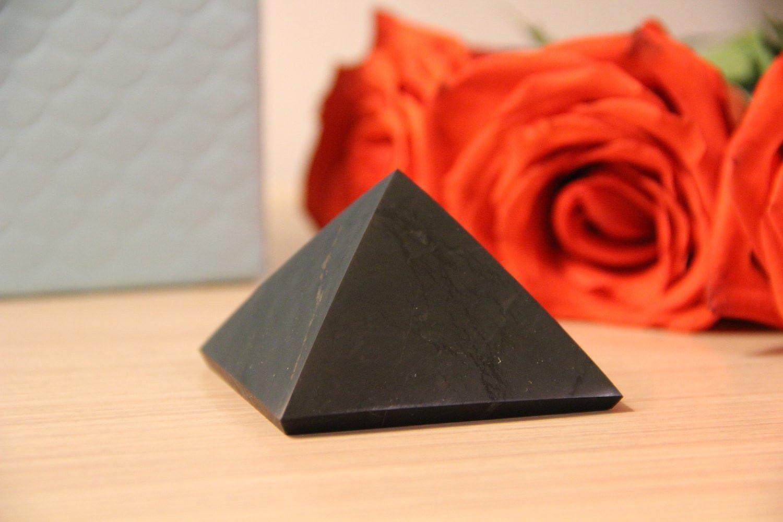 SHUNGITE POLISHED PYRAMID 5 CM  HIGHLY EMF PROTECTIVE! Healing stone