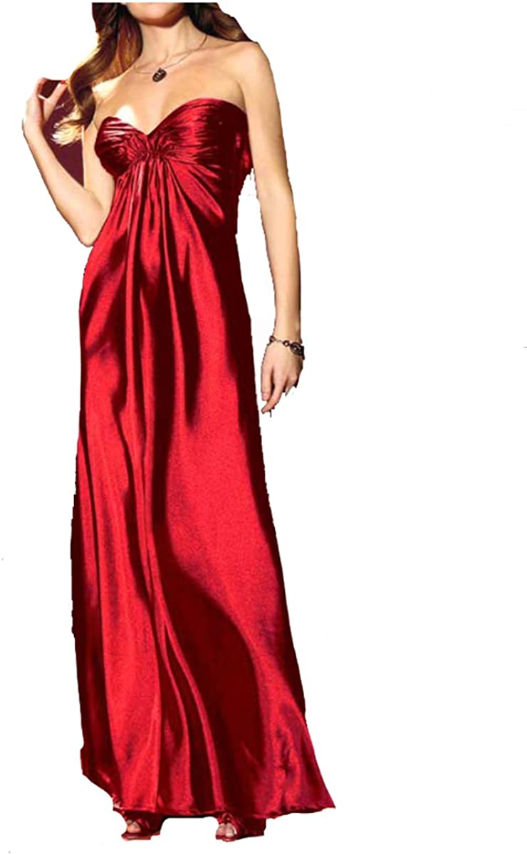 Laura Scott Evening Damen-Kleid Satin-Abendkleid Rot Größe 11 (11