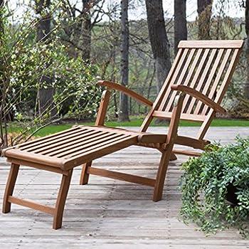 Amazon Com Vifah V156 Outdoor Wood Steamer Lounge