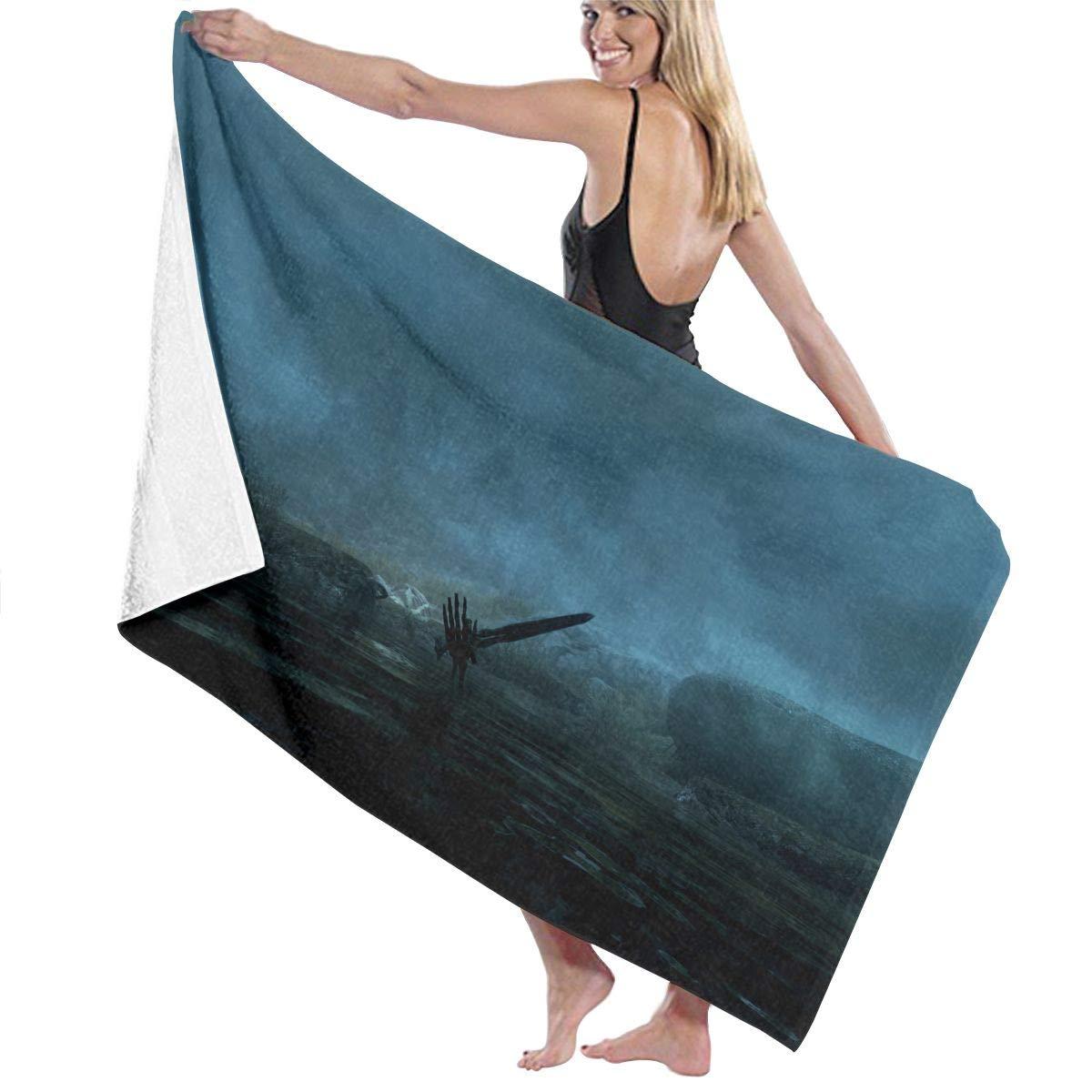 QWED Game Unisex Luxury Beach Towels Fashion Sauna Yoga Gym Towel
