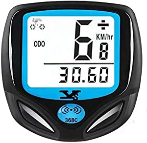 DINOKA Bike Speedometer Waterproof Wireless Bicycle Computer Bike Computer and Cycling Odometer with Automatic Wake-up Multi-Function LCD Backlight Display