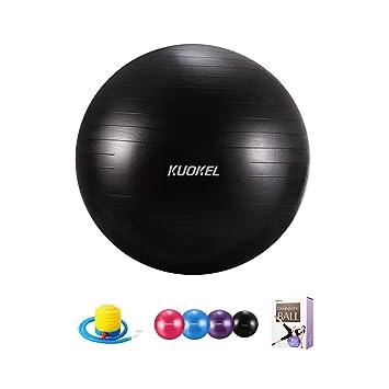 KUOKEL Pelota de Ejercicio para Fitness 65cm Bola de Yoga y ...