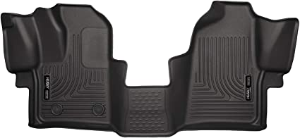 2015-2019 Ford Transit-350 Husky Liners 18771 Black Weatherbeater Front Floor Liners Fits 2015-2019 Ford Transit-150 2015-2019 Ford Transit-250