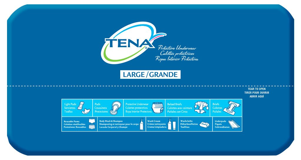 Amazon.com: TENA Overnight Womens Underwear, Large: Health & Personal Care