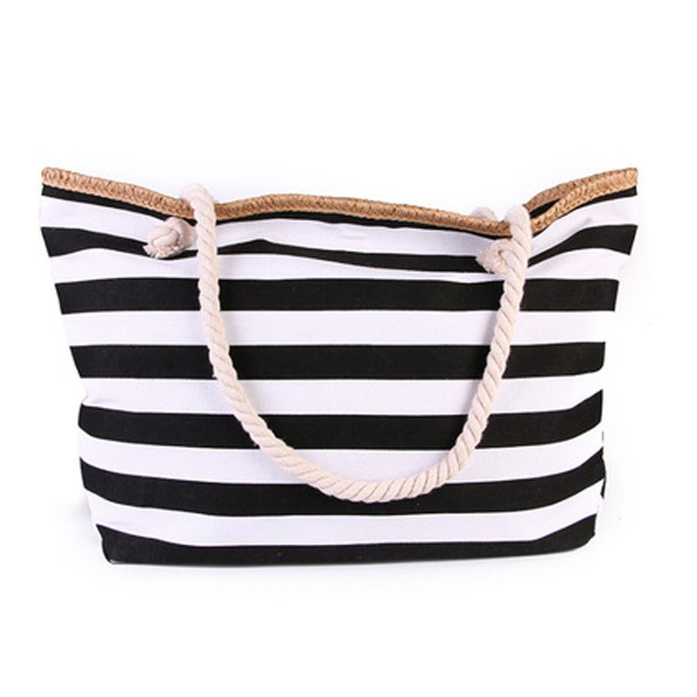 TOTZY Canvas Gym Tote Bag for women Black