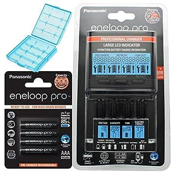Panasonic eneloop Cargador BQ de cc65 Incluye pantalla LCD ...
