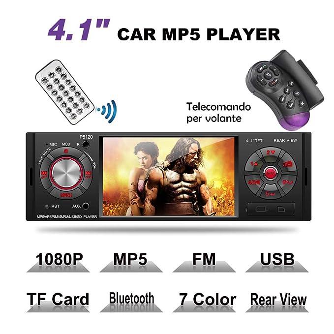29 opinioni per MEKUULA MP5 Car Stereo Auto Bluetooth Autoradio con Schermo da 4.1 Pollici, Luci