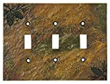 Big Sky Carvers 30170451 Pinecone Triple Switch Plate