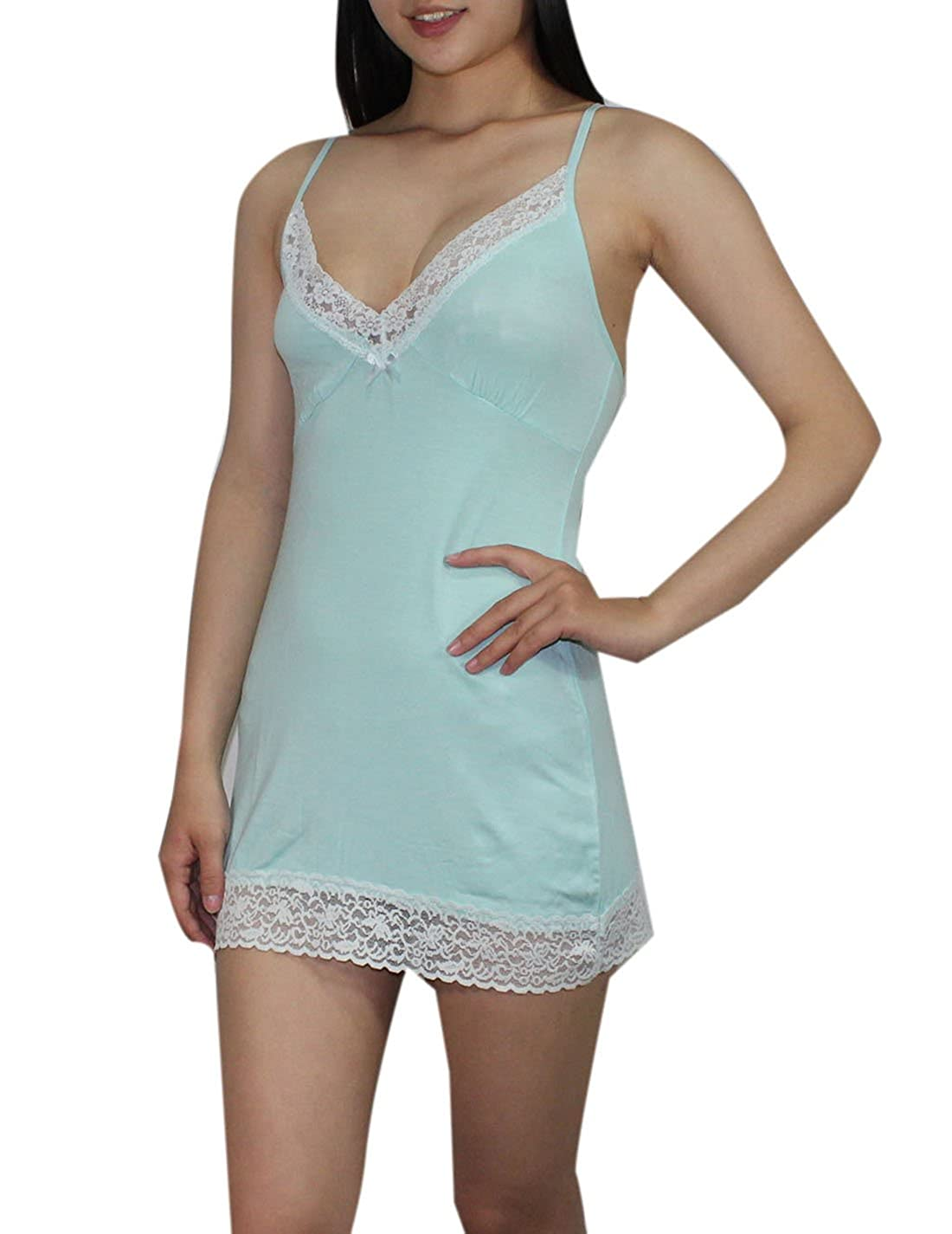 52e57dfc47 Victoria s Secret Womens Intimate Apparel - Sexy Sleepwear Chemise L Light  Blue at Amazon Women s Clothing store