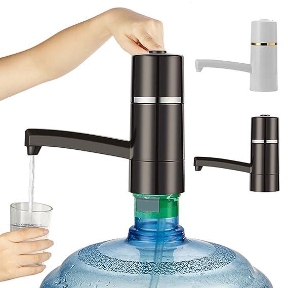 ZREAL Dispensador portátil de la bomba del botón del agua potable del dispensador de la botella del galón: Amazon.es: Hogar