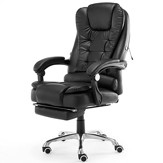 Amazon.com: Adjustable Chairs Computer chair Home office chair Swivel chair chair Comfortable lazy seat Chair that can be massaged (Color : Black, ...