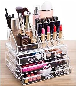 Amazon.com: Cq acrylic 4 Drawers and 16 Grid Makeup ...