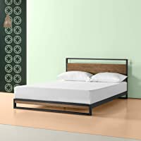 Zinus Ironline Metal and Wood Platform Bed Frame