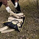 IKEPOD Canvas Firewood Log Carrier - Fire Wood Tote Bag Storage, Fireplace Wood Stove Accessories, Durable Large Holder for Camping, Design with Leather Handle