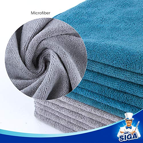 MR. SIGA Microfiber Cleaning Cloth, Pack of 12, Size: 15.7'' x 15.7'' by MR.SIGA (Image #4)