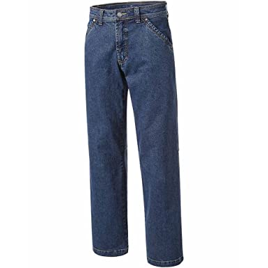 0beb05d0622b2c PIONIER WORKWEAR Herren 5-Pocket-Jeans mit Zollstocktasche in blau  (Art.-Nr. 347)  Amazon.de  Baumarkt