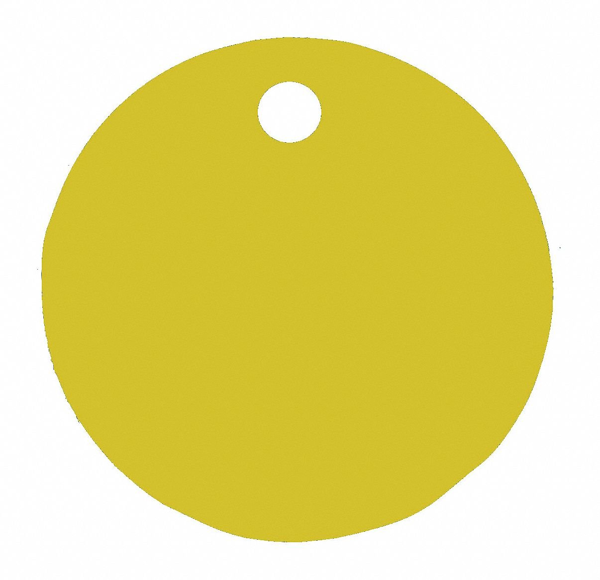 Gold Blank Tag, Aluminum, Round, 1'' Height, 5 PK
