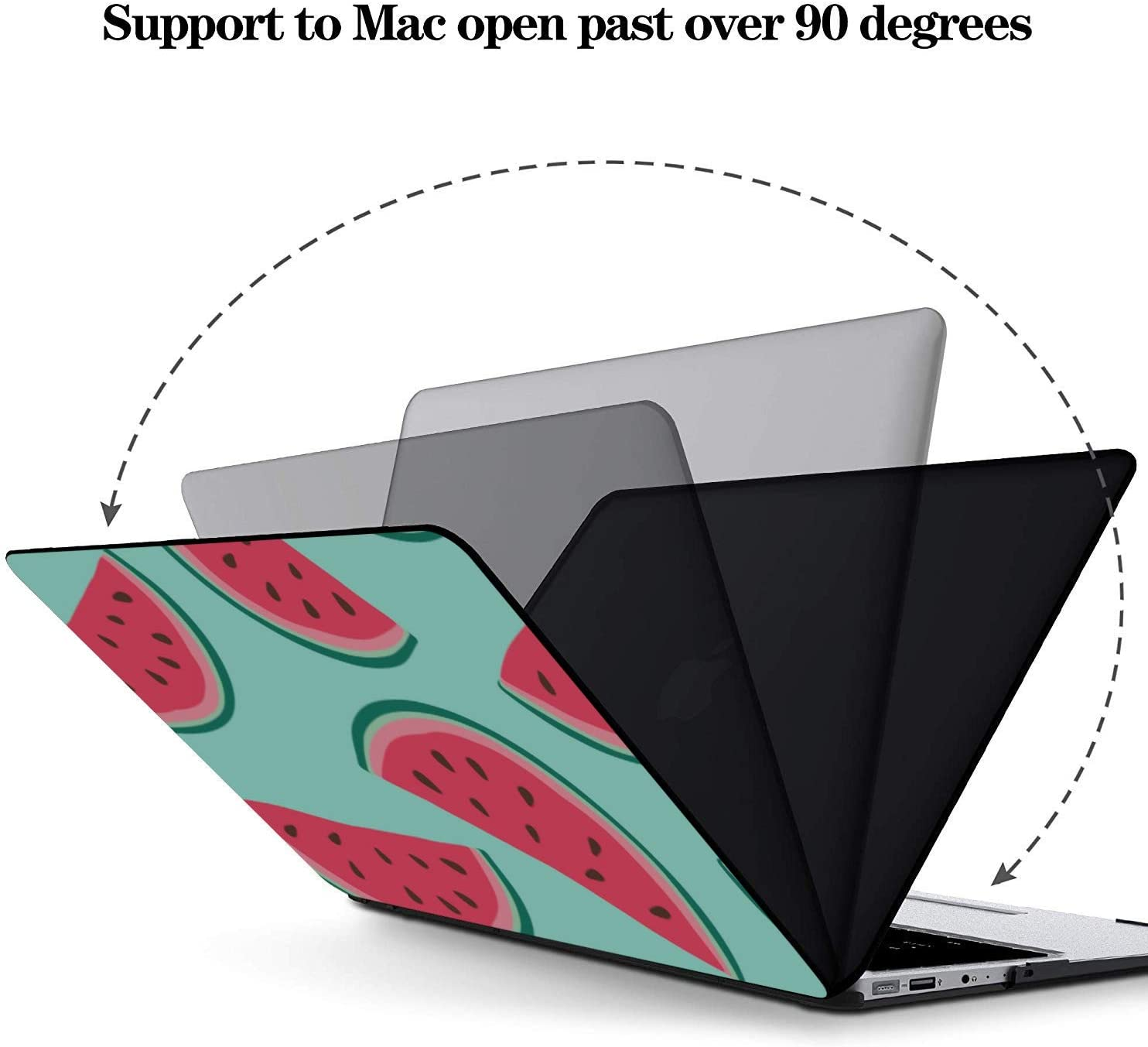 Accessories for MacBook Pro Summer Sweet Cool Fruit Watermelon Plastic Hard Shell Compatible Mac Air 11 Pro 13 15 A1466 Case Protection for MacBook 2016-2019 Version