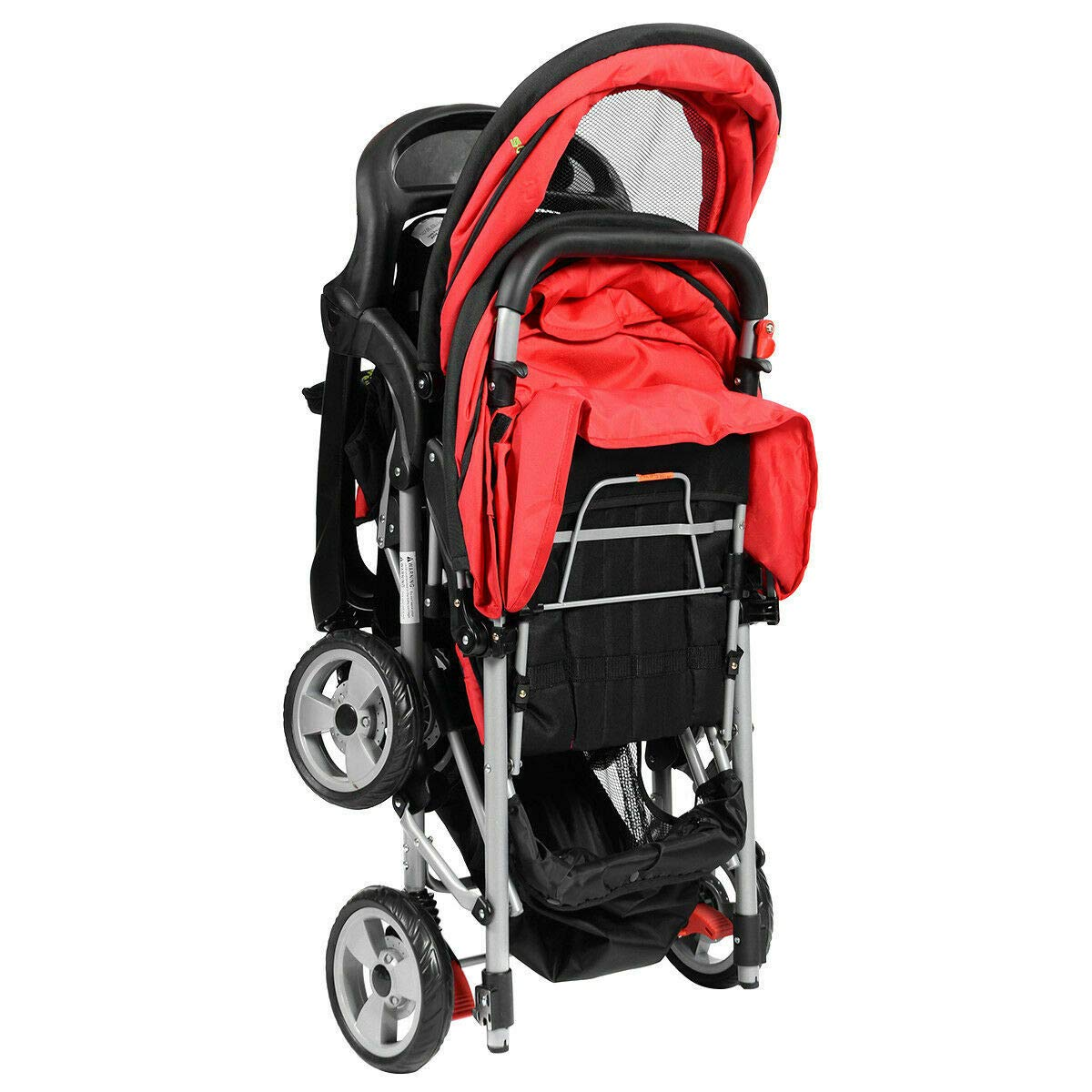 Cozinest Foldable Twin Baby Double Stroller Kids Jogger Travel Infant Pushchair Red by Cozinest (Image #8)