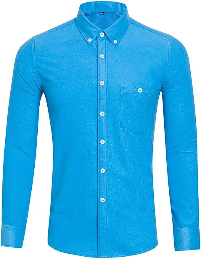 TQF1 Mens Casual Business Plaid Shirt Long Sleeve Shirt