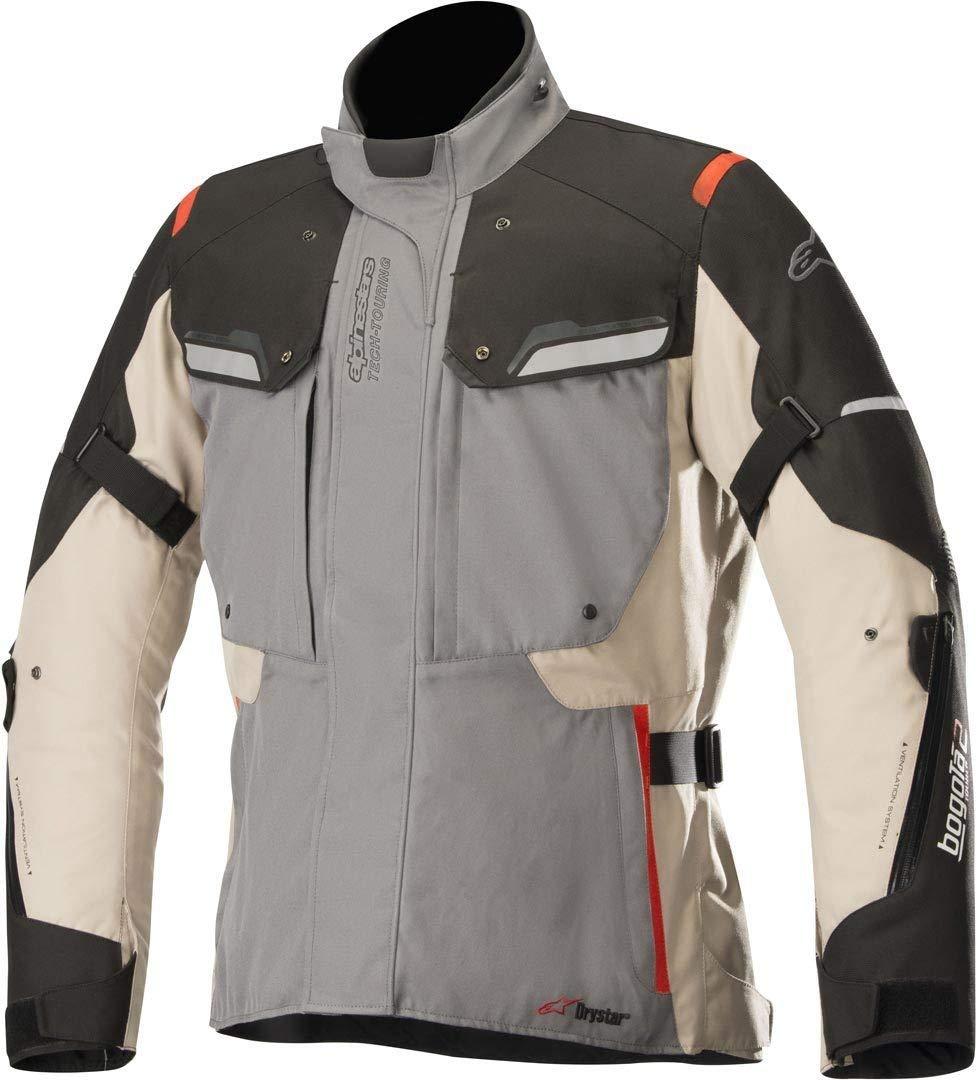 Alpinestars Bogotá V2 Drystar - Chaqueta para moto (talla S), color gris y negro: Amazon.es: Coche y moto