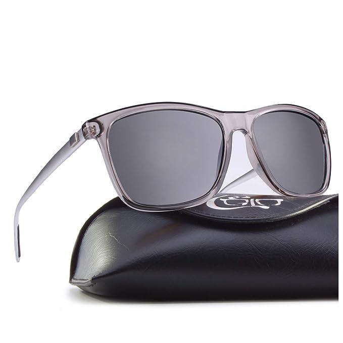00a6bec163 CGID cuadradas Retro Deportivas Diseñador Gafas de sol clásicas para hombres  y mujeres Gafas de sol