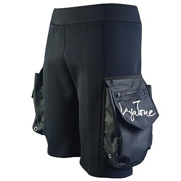Layatone Traje de Neopreno Pantalones Cortos para Hombres Neopreno de 2mm/3mm con Bolsillos Pantalones Cortos de Buceo Pantalones Cortos de Surf con ...