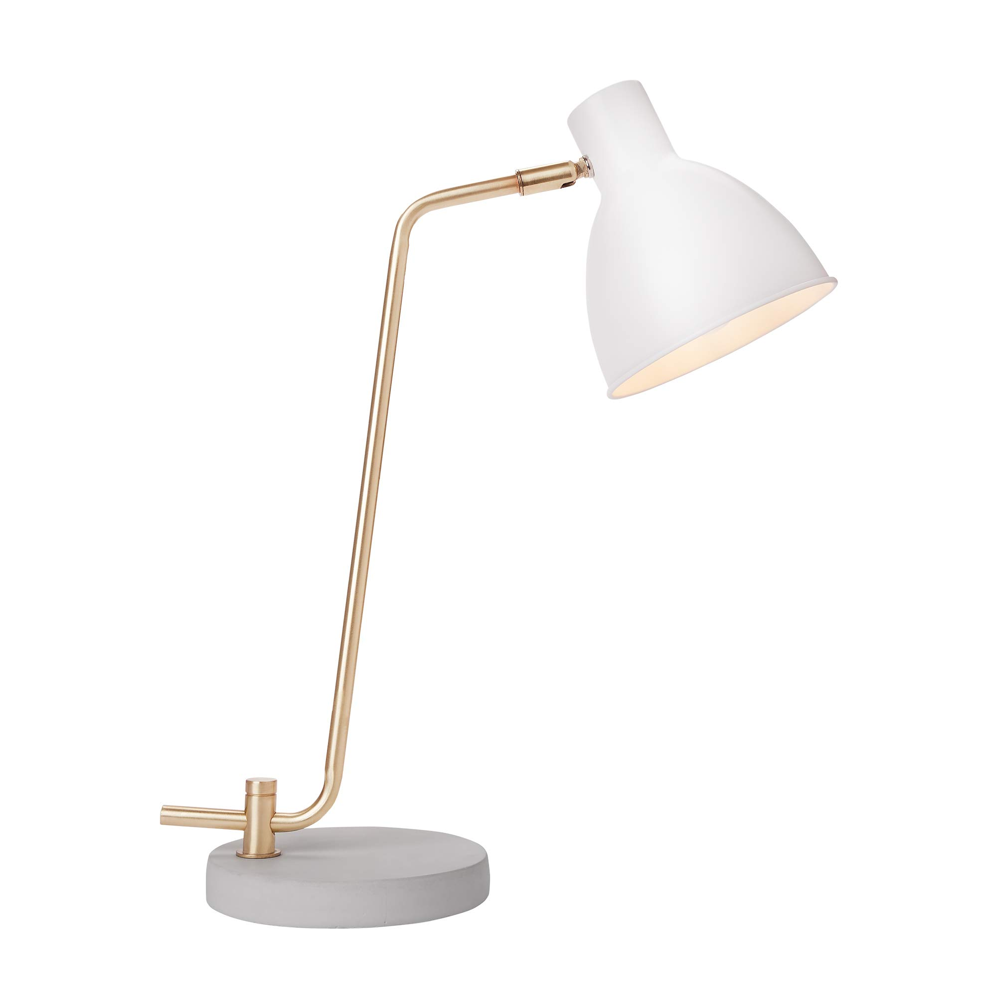 Newhouse Lighting NHDK-AM-WH Amelia Contemporary Table Lamp with LED Bulb Included, White