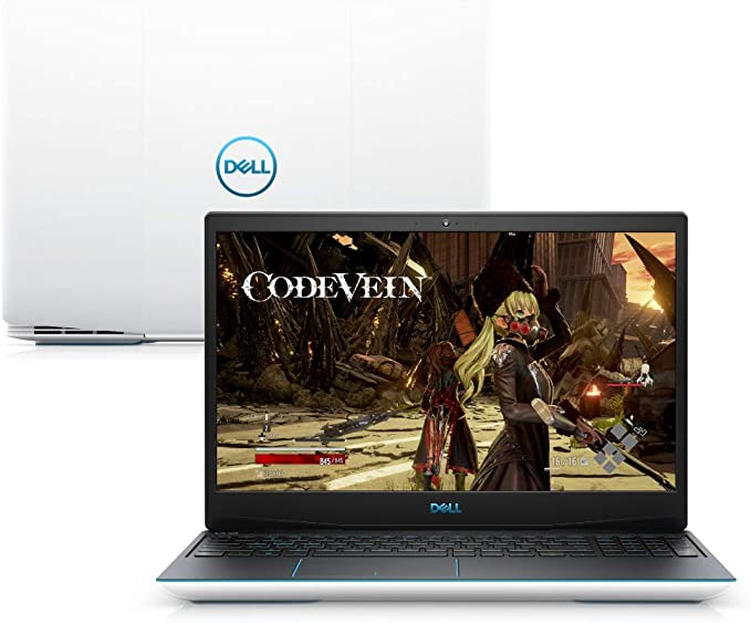 "Notebook Dell G3 15 Gaming, G3-3590-A30B, 9ª Geração Intel Core i7-9750HQ Hex Core, 8 GB RAM, HD 1TB + 128GB SSD, NVIDIA® GeForce® GTX 1660 Ti 6GB GDDR6, Tela 15.6"" LED Full HD, Windows 10, Branco"